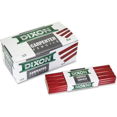 Dixon Flat Carpenter Pencil Medium 1 Dozen Red 14100