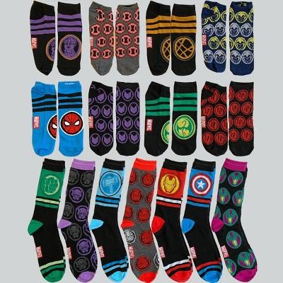 Men's Marvel 15 Days of Socks Advent Calendar 15pk - 6-12
