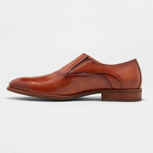 5f7da1afd13b Men s Keanu Leather Monk Strap Dress Shoes - Goodfellow   Co™ Tan   Target