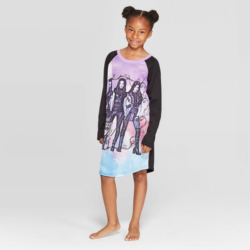 Girls' Descendants Dorm Nightgown - Black - image 1 of 3