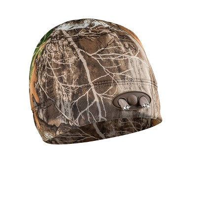 POWERCAP Adult 4 LED Compression Fleece Cap - Real Tree Camo