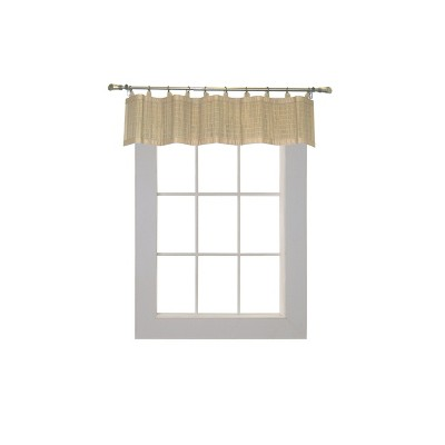 """12""""x48"""" Bamboo Ring Top Valence Beige - Versailles Home Fashions"""