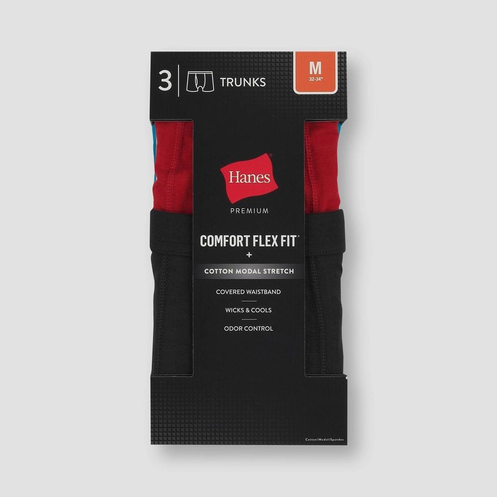Hanes Premium Black Label Men 39 S Trunks 3pk M