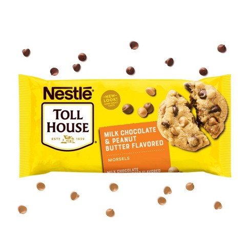 Nestle Toll House Gluten Free Milk Chocolate & Peanut Butter Flavored Baking Morsels - 11oz - image 1 of 4