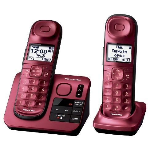 Panasonic Cordless Phone With Digital Answering Machine Red Kx Tgl432r Target