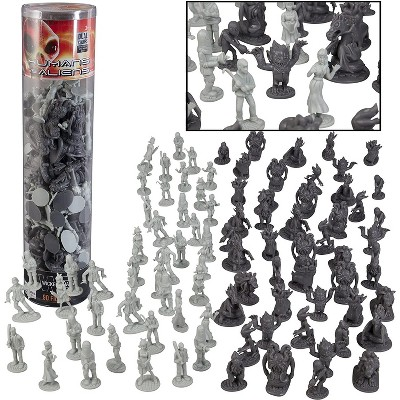 Hingfat Humans Vs Aliens Space Monster Action Figure Toy Playset, 90 Pieces
