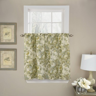 """Set of 2 (36""""x52"""") Spring Bling Light Filtering Curtain Tiers - Waverly"""