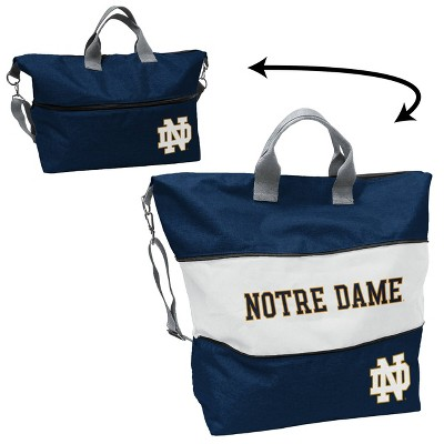 NCAA Notre Dame Fighting Irish Crosshatch Expandable Tote - Navy/White