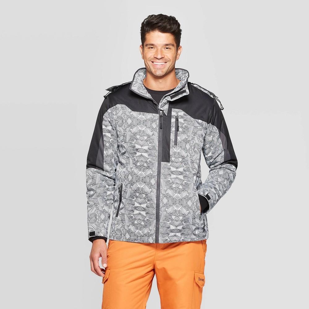 Men S Outdoor Ski Jacket Zermatt Diamond Print White Xxl