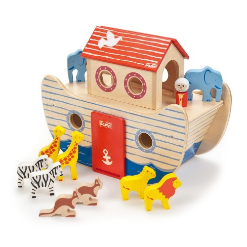 Indigo Jamm Wood Noah's Ark Wood Playset - image 1 of 3