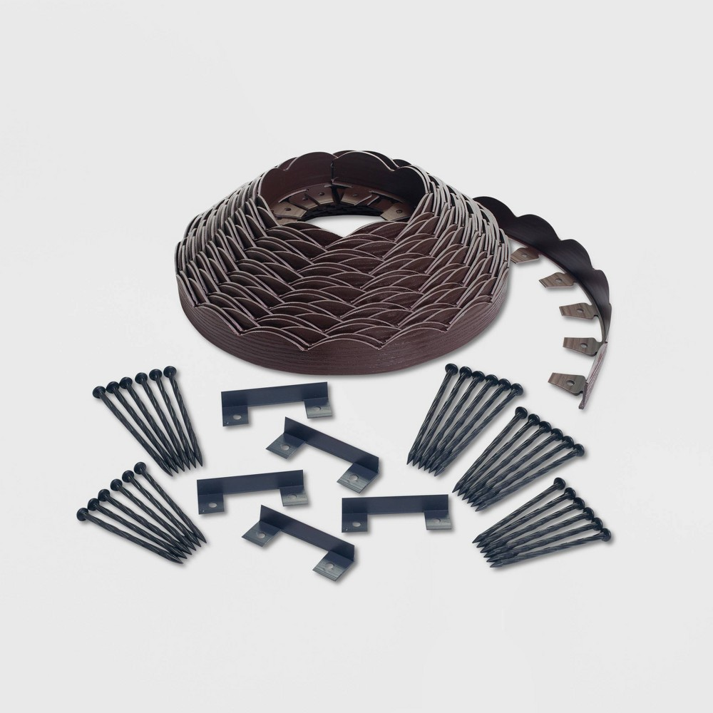 Image of 100' No-Dig Garden Edging Kit Brown - EasyFlex