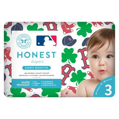 Honest Company Diapers, Boston Red Sox - Size 3 (34ct)