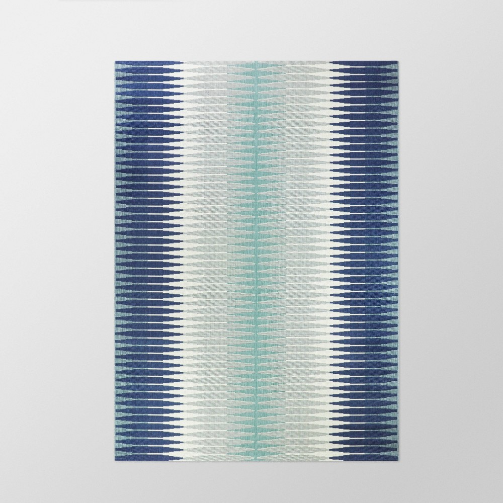 7 10 X 10 Ombre Outdoor Rug Navy Project 62 8482