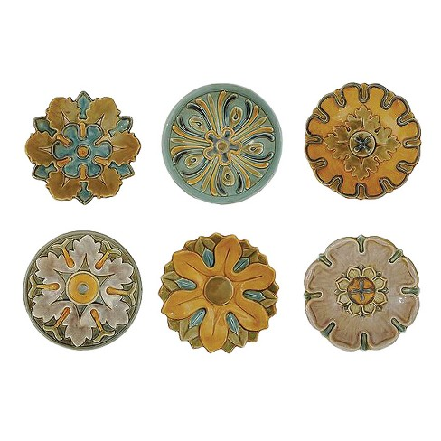 Terra Cotta Wall Plate - Set of 6 - 3R Studios - image 1 of 2