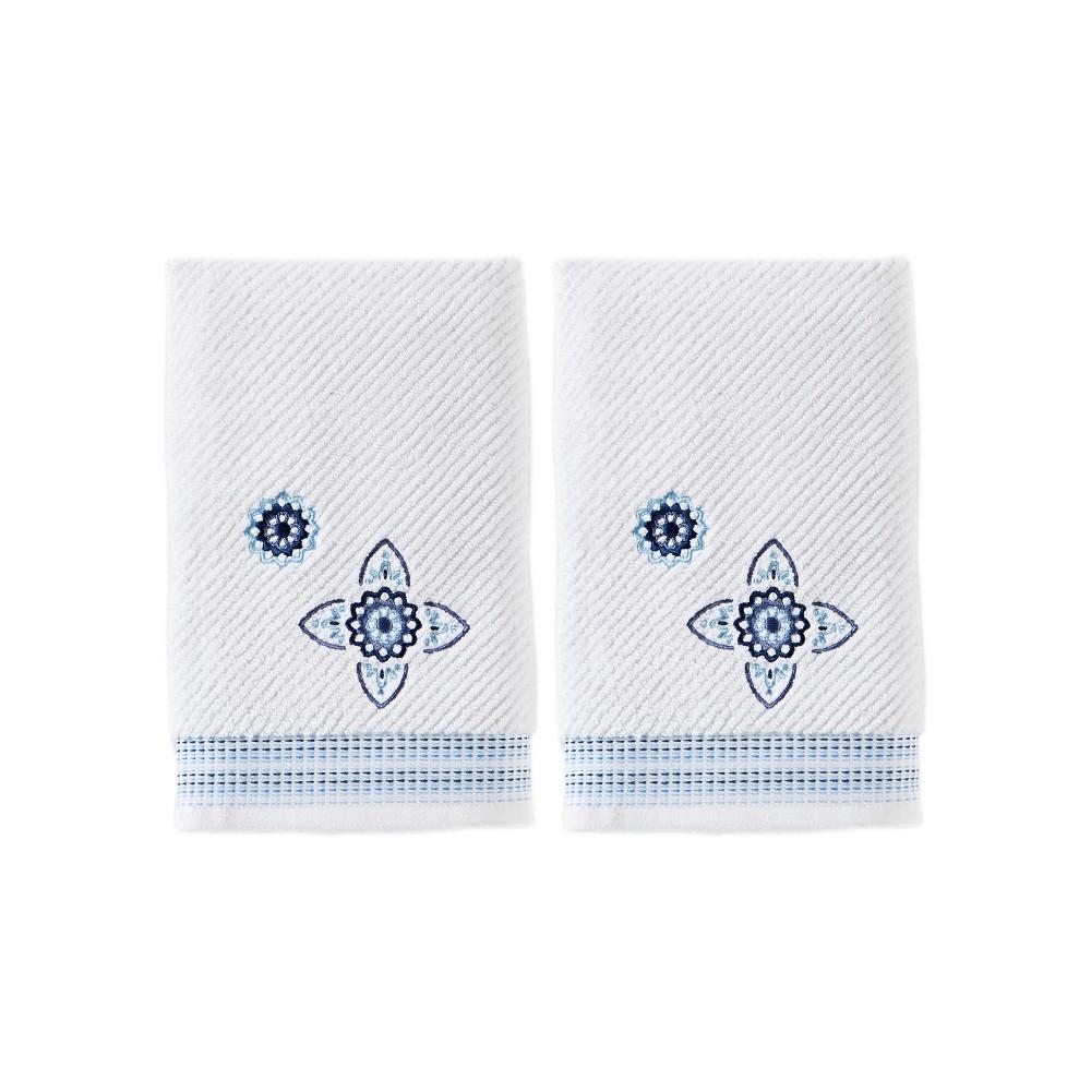 Image of 2pc Kali Hand Towel Set White - Saturday Knight Ltd.