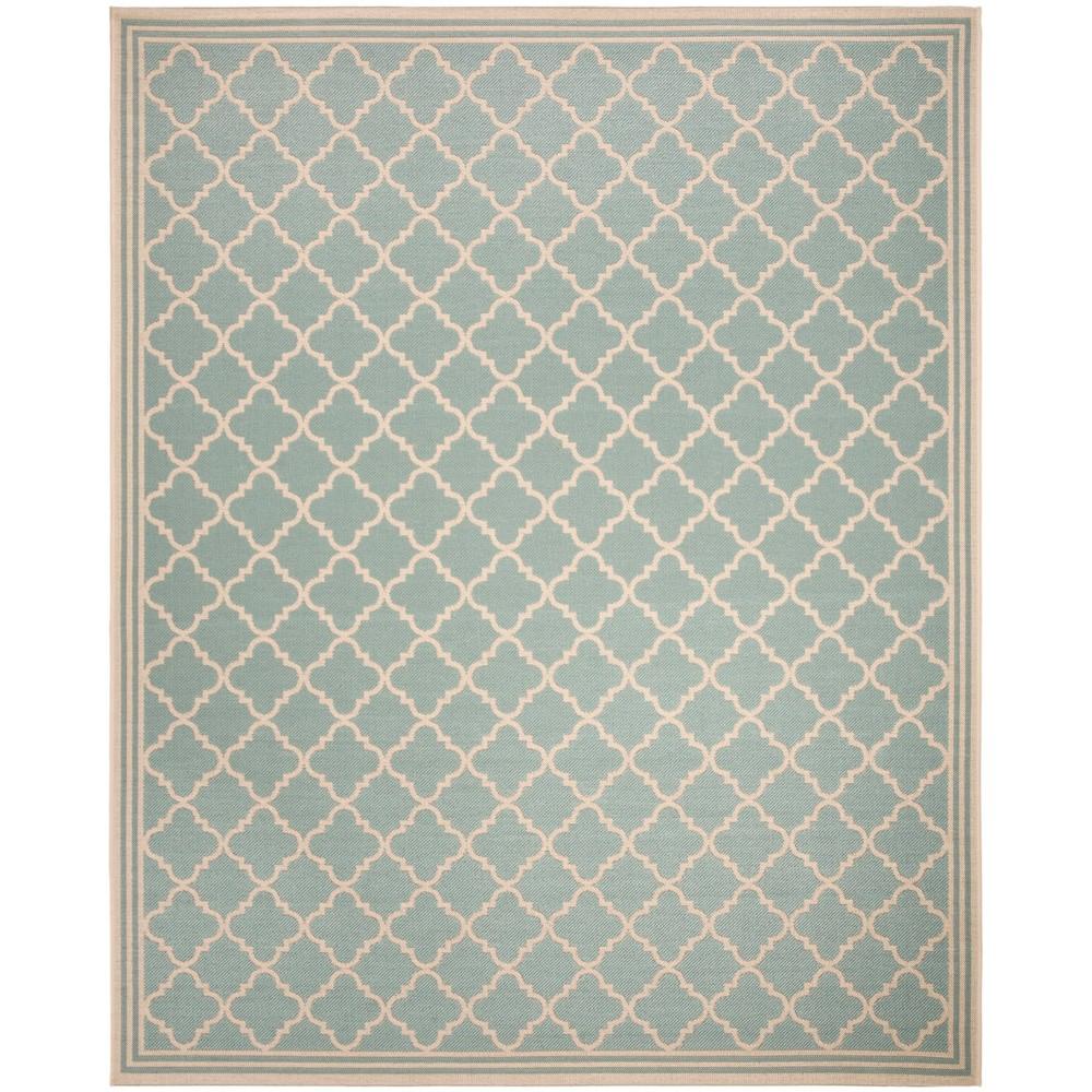 8'X10' Quatrefoil Design Loomed Area Rug Aqua/Cream (Blue/Ivory) - Safavieh