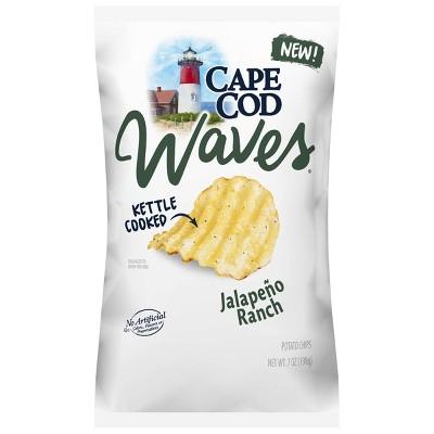 Cape Cod Jalapeno Ranch Waves Potato Chips - 7oz