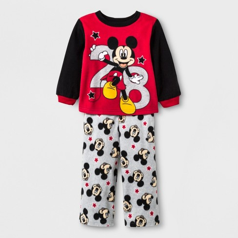 f457ffd4f9 Toddler Boys  Mickey Mouse 2pc Fleece Pajama Set - Black 2T   Target