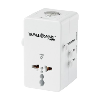 Travel Smart All-in-1 Adapter with Nightlight and USB Port