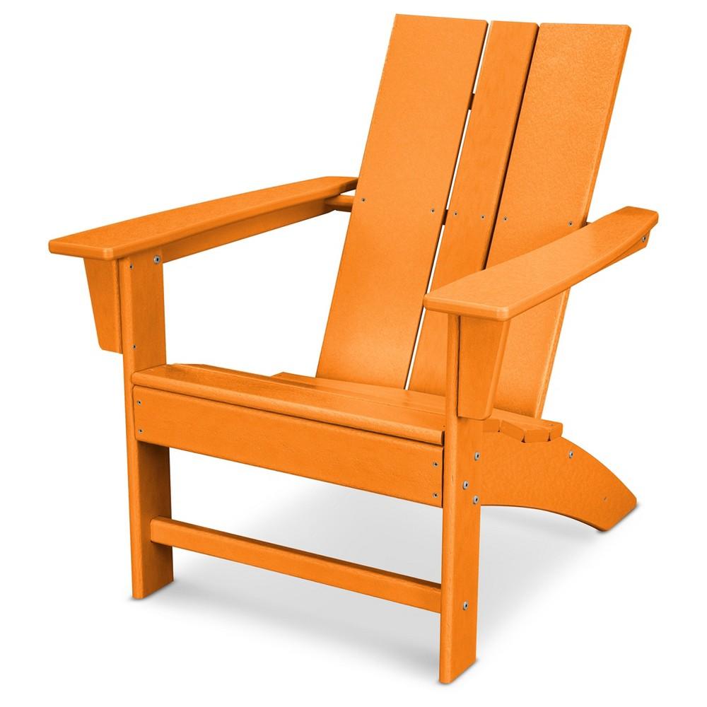 Polywood St Croix Modern Adirondack - Tangerine (Orange)