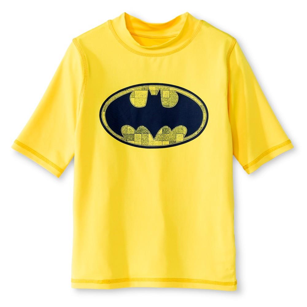 Boys' Batman Rashguard - Yellow XS