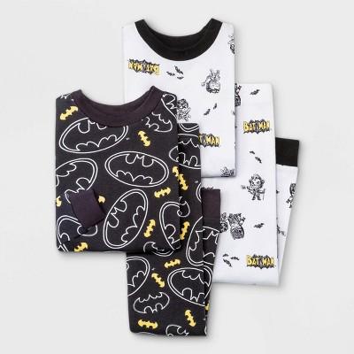 Toddler Boys' 4pc Batman Snug Fit Pajama Set - 2T