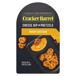 Cracker Barrel Sharp Cheddar Cheese Dip And Pretzels - 2.65oz
