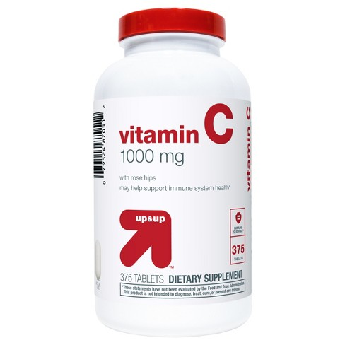Vitamin C w/ Rose Hips Dietary Supplement Tablets - 375ct - Up&Up™ - image 1 of 2