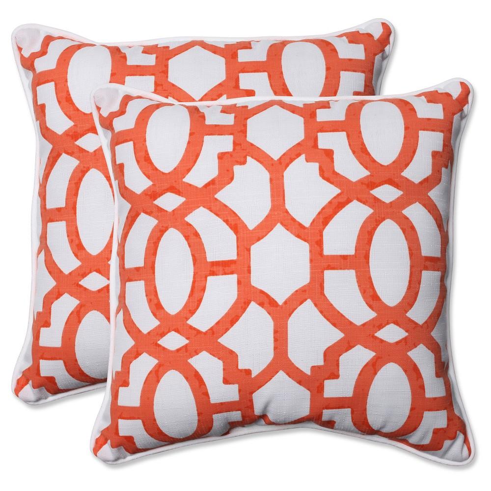 Pillow Perfect Outdoor Throw Pillow Set - White