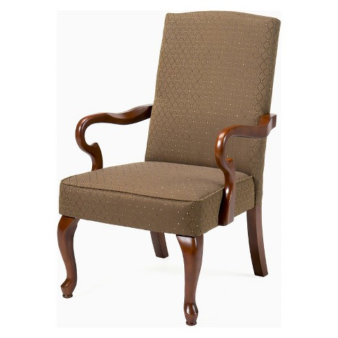 Crystal Copper Gooseneck Arm Chair in Cherry - Comfort Pointe - image 1 of 1