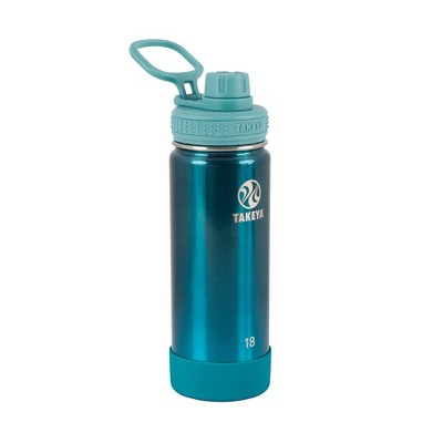 Takeya 18oz Actives Insulated Stainless Steel Water Bottle with Spout Lid - Jade