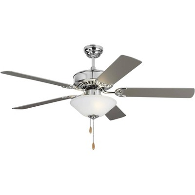 "52"" Monte Carlo Haven LED 2 Chrome Pull Chain Ceiling Fan"