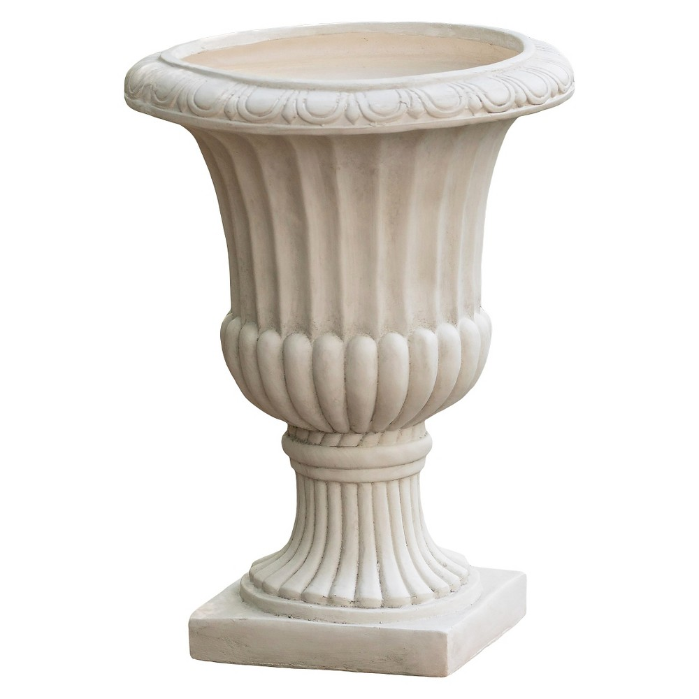 Image of 26 Italian Cast Stone Patio Urn - Christopher Knight Home, Antique White