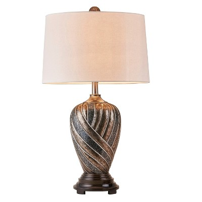 """29.75"""" Antique Polyresin Table Lamp (Includes CFL Light Bulb) Bronze - Ore International"""