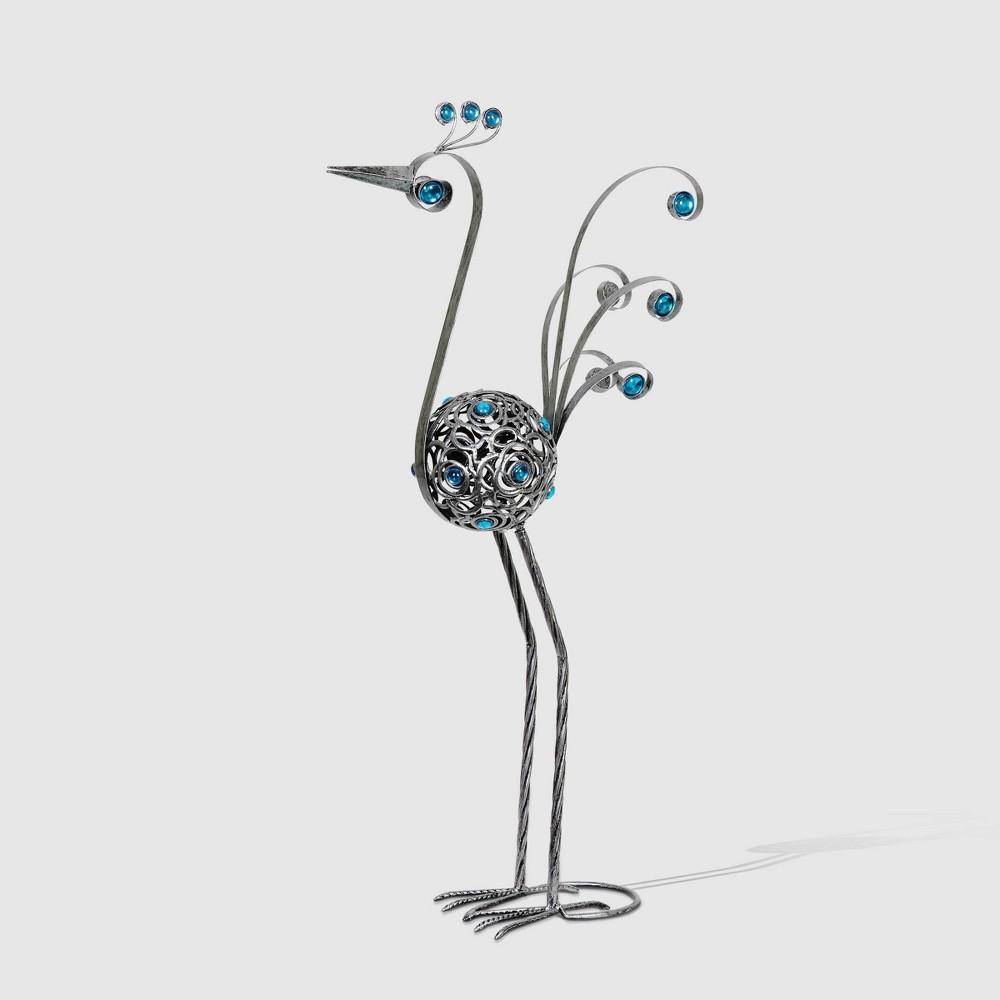 28 Resin Pewter (Silver) Filigree Bird Statue Pewter - Exhart