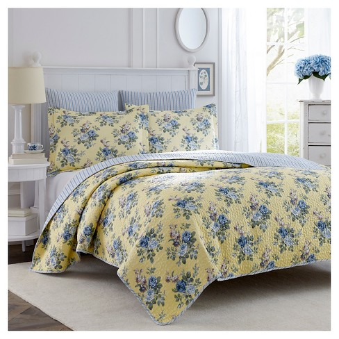 Linley Quilt Set Laura Ashley Target, Laura Ashley Bedding Blue And Yellow