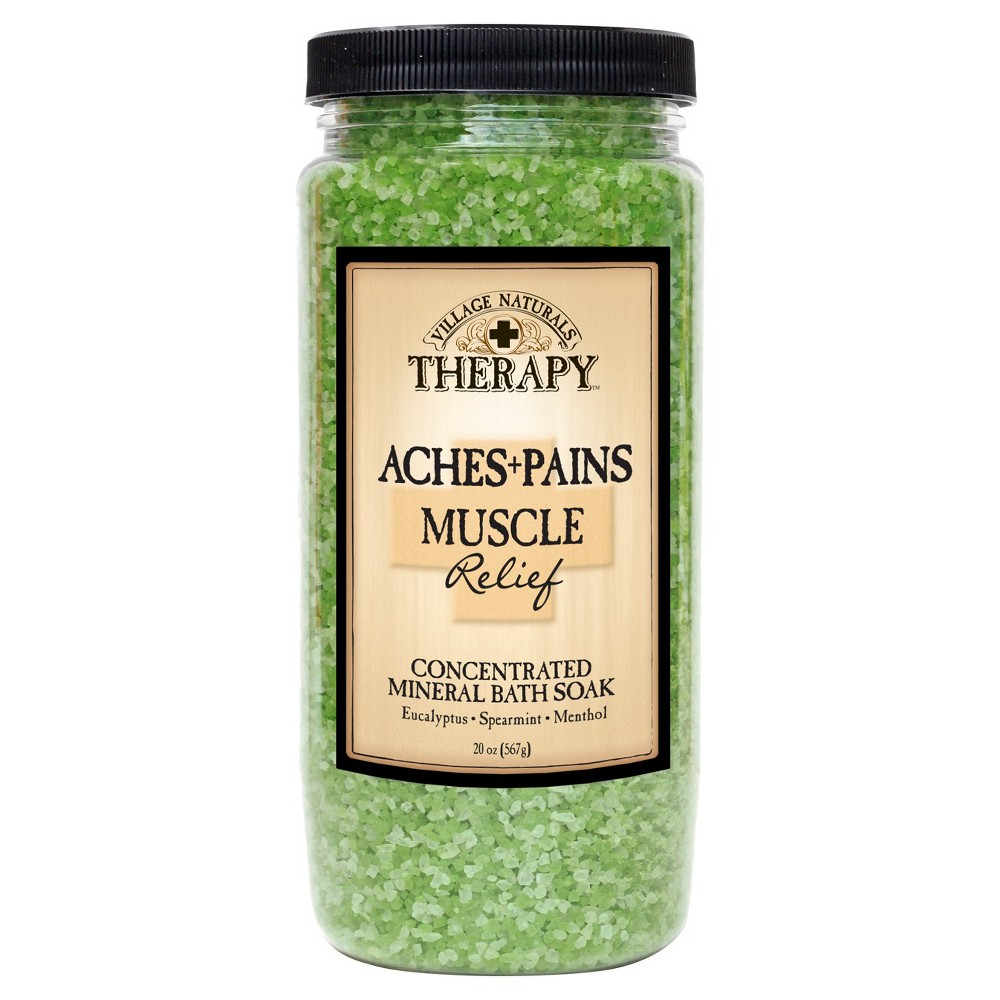 Image of Village Naturals Therapy Muscle Relief Bath Soak - 20oz
