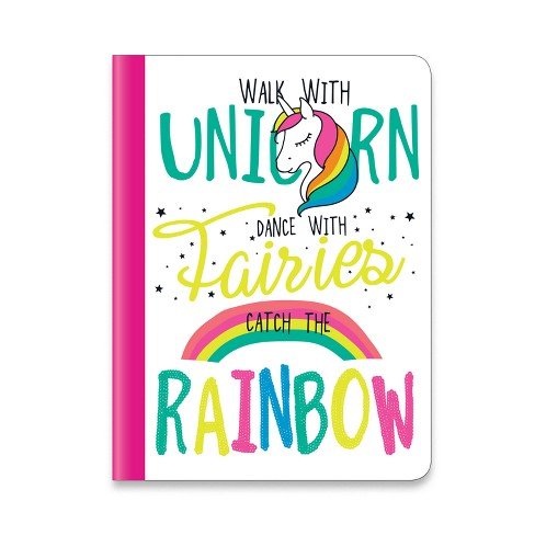 Composition Notebook College Ruled Unicorn & Rainbows - Markings - image 1 of 1