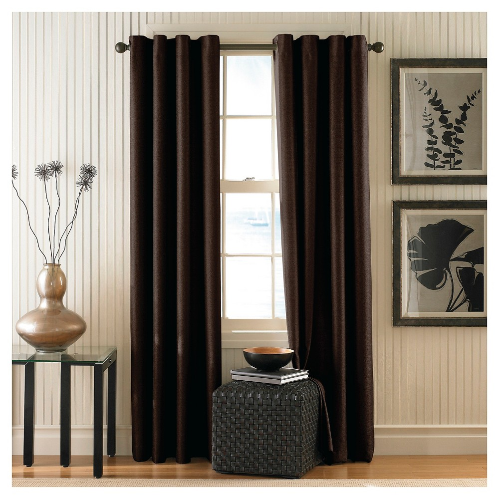 Curtainworks Monterey Lined Curtain Panel - Chocolate (Brown) (144)