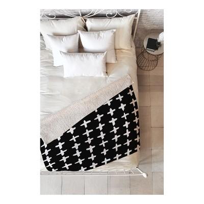 Black/White Geometric Throw Blankets 50 X60  - Deny Designs
