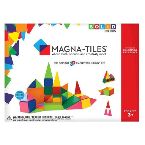 Magna-Tiles Solid Colors 56 Piece Set - image 1 of 4