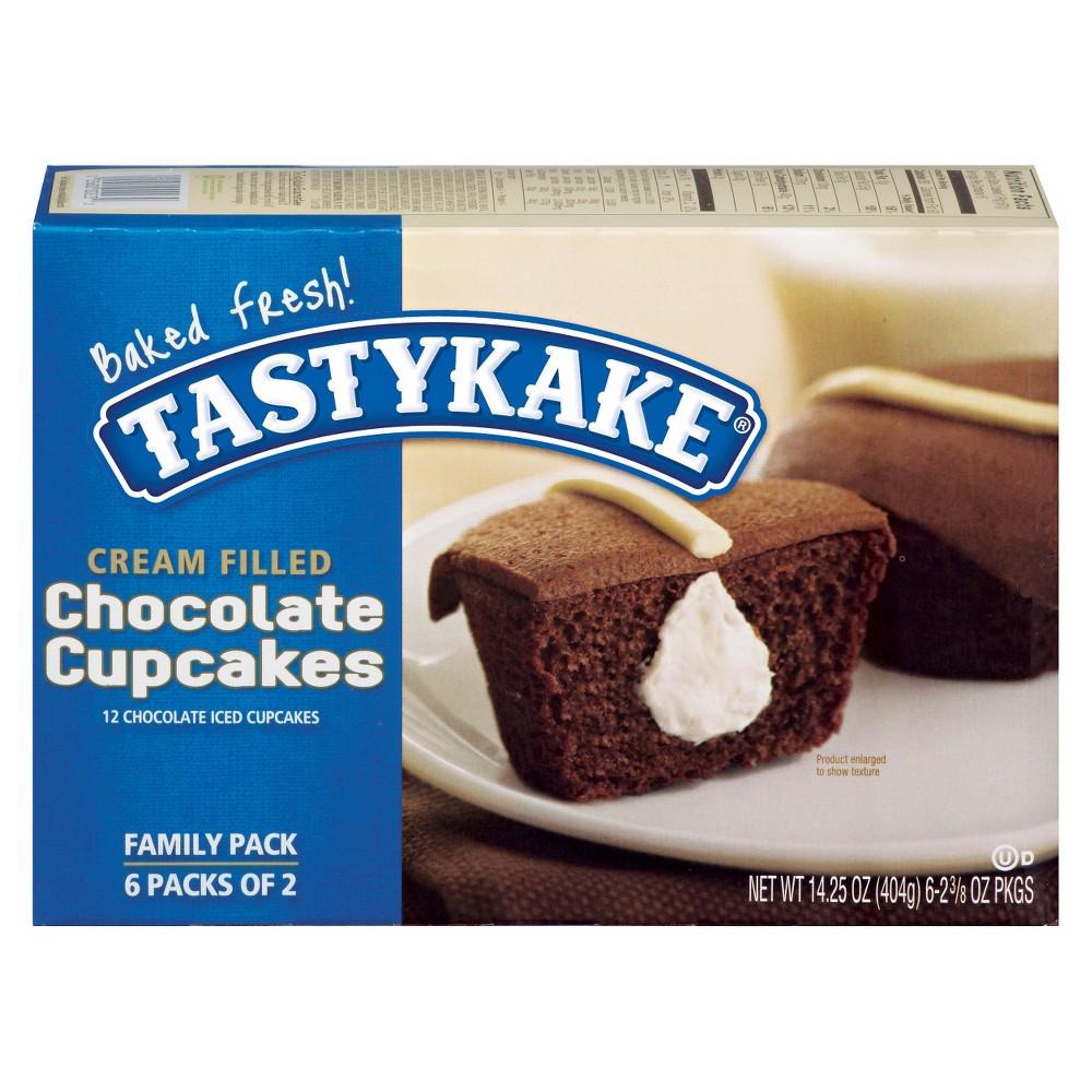 Tastykake Cream Filled Chocolate Cupcakes - 12ct/14.25oz