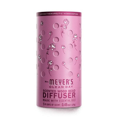 Mrs. Meyer's Clean Day Scented Wood Bead Diffuser Peony - 0.49oz