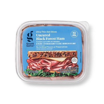 Uncured Black Forest Ham Ultra-Thin Deli Slices - 9oz - Good & Gather™