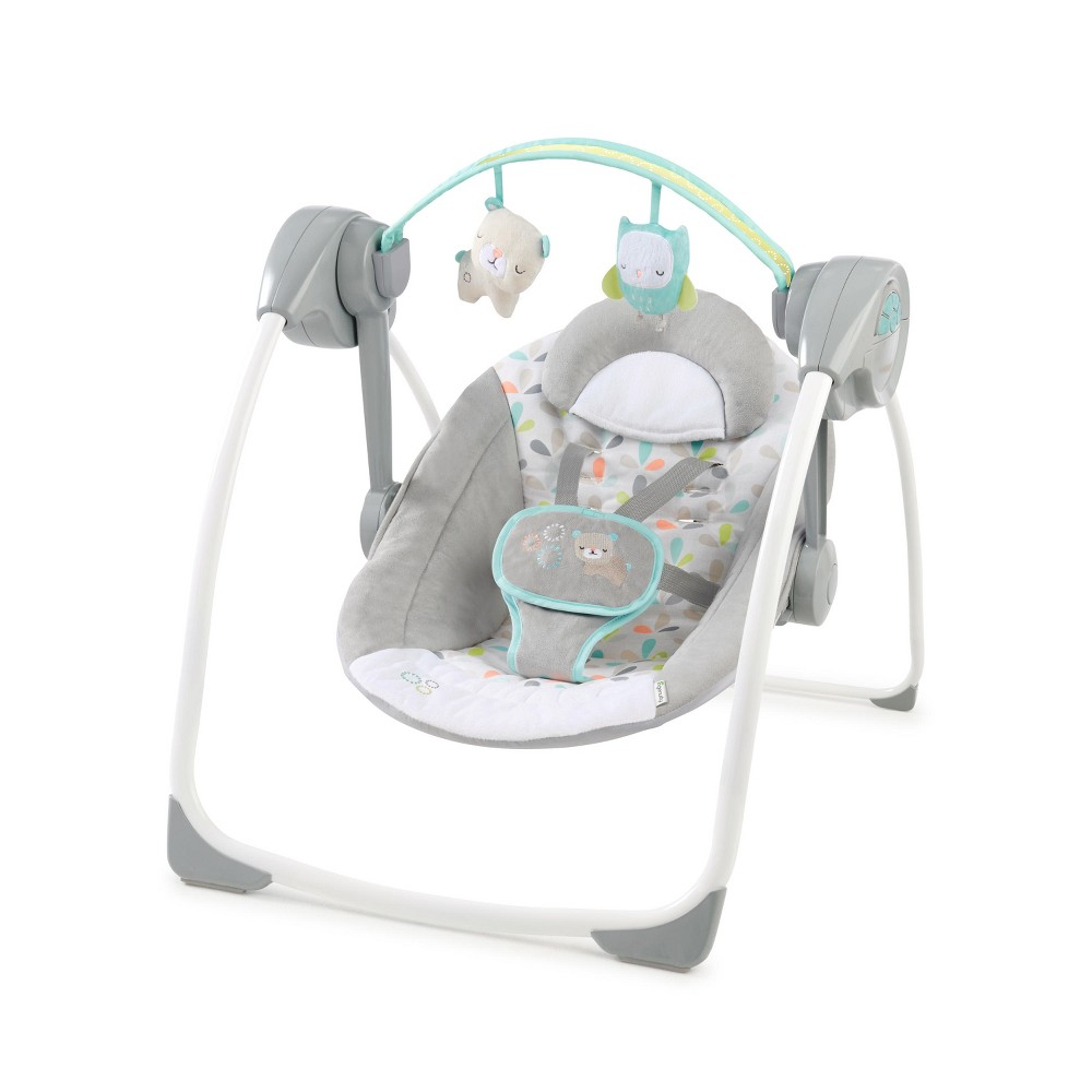 Image of Ingenuity Comfort 2 Go Portable Swing - Fanciful Forest, Fanciful Green
