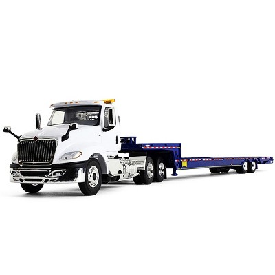 International ProStar with Ledwell Hydratail Trailer White and Blue 1/34 Diecast Model by First Gear