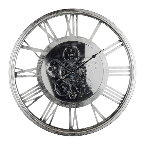 Hereford Transitional Round Wall Clock Silver - A&B Home - image 1 of 1