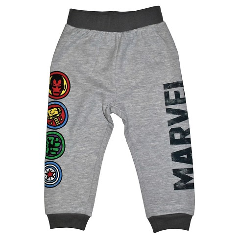 Toddler Boys' Avengers Jogger Pants - Heather Gray 3T - image 1 of 1