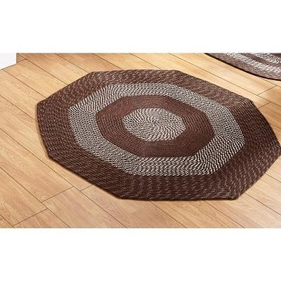 Newport Braid Collection 100% Polypropylene Stripe Pattern Reversible Indoor Utility Rug - Better Trends
