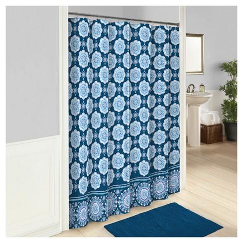Karma Love Shower Curtain Blue